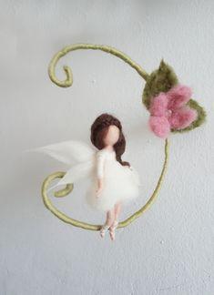 Fensterschmuck - Mobile mit Elfe & Blume ♡ - ein Designerstück von Giodali bei DaWanda