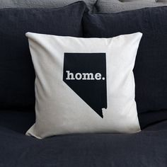The NevadaHome Pillow is the perfect way to show off your state pride in your home, while also helping to raise money for multiple sclerosis research. This ele