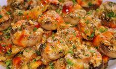Atat de bune sunt - Ciuperci champignon la cuptor - Saptamanl fac cate o portie Romanian Food, Shrimp, Side Dishes, Deserts, Ale, Goodies, Food And Drink, Cooking Recipes, Vegetarian