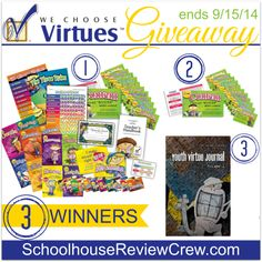 An awesome giveaway from @WeChooseVirtues !