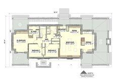 Plano de casa estilo country y moderna con 3 dormitorios-3