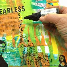 Art journaling tutorial sharing how she used a Gelli print for an art journal page