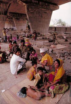 People In India | ... people under bridge. Calcutta, India under bridge in the city