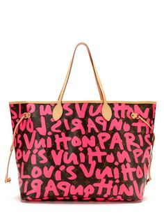 Louis Vuitton Limited Edition Fuchsia Monogram Graffiti Neverfull GM