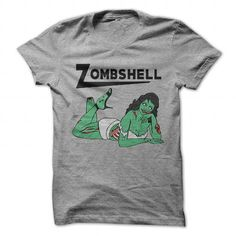 Zombshell - #inexpensive gift #house warming gift. LOWEST SHIPPING:  => https://www.sunfrog.com/Zombies/Zombshell-SportsGrey-57414085-Guys.html?id=60505