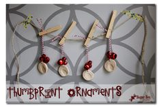 Thumbprint Ornaments @Stephanie Close Close Sales