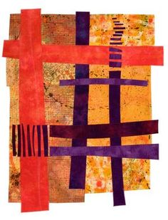 image of a quilt by Catherine Kleeman titled Life Lines