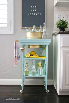 DIY Beverage Station - Check more details on www.prettyhome.org