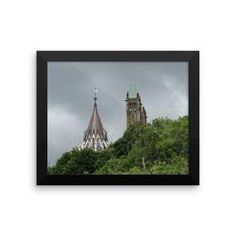 Framed photo paper poster: Canadian Parliament Buildings-2, Ottawa