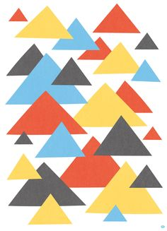 Rain clouds illustration - abstract triangle pattern by Matt Johnson.