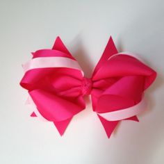 Pink Bow with Alligator Clip Baby Sun Hat, Sun Hats, Bows, Pretty, Pink, Hair, Arches, Sombreros De Playa, Bowties