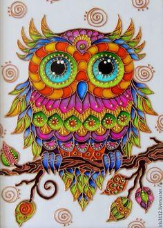61 Mandalas y Zentangles con buhos y lechuzas: Diseños y significado - Mandalas