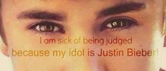 I'm sick of being judged for just loving my idol.