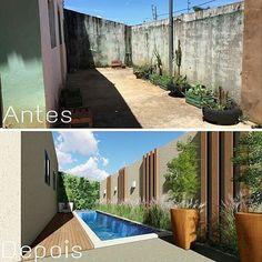Liked Photos - null Outdoor Patio Designs, Backyard Pool Designs, Small Backyard Pools, Swimming Pools Backyard, Backyard Patio, Backyard Landscaping, Landscape Design, Garden Design, Small Pool Design