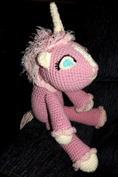 Just finished Maddy's Rosy Unicorn, Pattern by dawntoussaint @ http://dawntoussaint.blogspot.com/2011/08/september-cal-hermione-unicorn.html