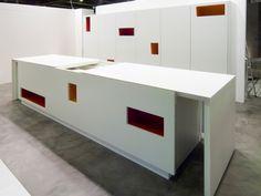 MONDRIAN Corian® kitchen by TM Italia Cucine design Roberto Semprini