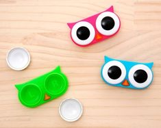 Fancy - Owl Contact Lens Case...Don't wear contacts, but I thought these were so cute.