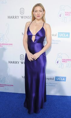 The Mother's Dayactress arrivesin stunning purple gown at the Kaleidoscope Ball at 3LABS in Culver City, California.