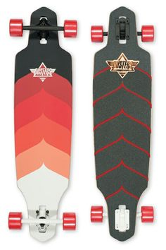 Dusters California Wake + Kryptonics Red Longboard
