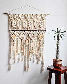 """PLAYTIME"" Large Macrame Wall Hanging Crochet Wall Hangings, Large Macrame Wall Hanging, Rose Water, Cozy House, Diy Tutorial, Dream Catcher, Tapestry, Tutorials, California"