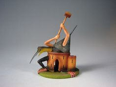 Fantastic Hieronymus Bosch (1450–1516) figurines by Netherlands-based Parastone based on two of his paintings: The Garden of Earthly Delights and Temptation of St. Anthony.