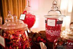Candy bar autour du rouge