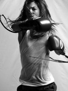 .thaiboxing, #boxing #b/w gilr white shirt
