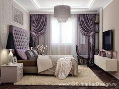 Шторы, потолок и компоновка приятная