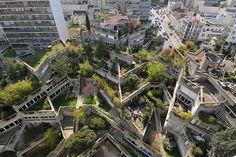 Jean Renaudie & Renée Gailhoustet: Housing buildings, Ivry-sur-Seine, Paris, 1968. Green visible, thus no hell anymore...
