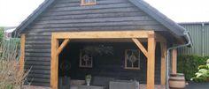 Schuur Lettele - Robuuste houten schuur met veranda en pannendak