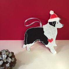 Border Collie gift christmas decoration cute dog by BeaglenThread