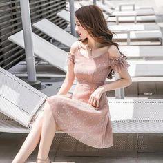 Korean Fashion Dress, Ulzzang Fashion, Asian Fashion, Fashion Dresses, Simple Dresses, Pretty Dresses, Beautiful Dresses, Short Dresses, Cute Fashion