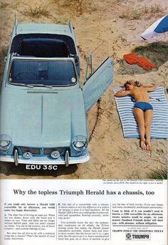 Triumph Herald Convertible ....... Topless .           www.tssc.org.uk