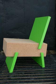 Daniel Michalik | 3/1 Chair - 2011, Recycled Cork