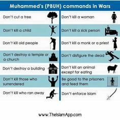 Prophet Muhammad's (p.b.u.h.) commands in war. I.S.I.S. IS NOT ISLAM!!