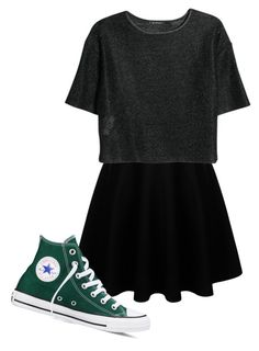 """""""Untitled #360"""" by kylethevampire ❤ liked on Polyvore featuring MANGO and Converse"""