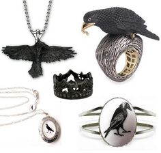 Crow Jewelry...The big one I'm not found of, but all the rest...gosh...so wonderful <3
