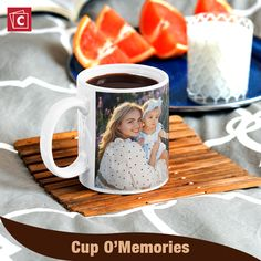 Make your morning coffee or tea even better with a custom photo mug. Our photo mugs can be customized with any picture you'd like. Each mug holds up to 11 oz. of your favorite hot beverage and is sure to put a smile on your face each time you take a sip. Click here to begin designing. Personalized Ceramic Coffee Mugs, Personalized Photo Mugs, Custom Photo Mugs, Custom Mugs, Photo Mug Printing, Design Your Own Mug, Photo On Mug, Photo Wrap, Next Gifts