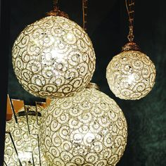 These beautiful bubble shaped chandeliers make a massive impact in any room. They have an elegant swirl design woven with crystal clear beads for extra glamour and sparkle. We think they look idyllic in the hallway or bathroom!