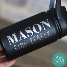 4e3e88a3fe8 Ring Bearer & Flower Girl personalized kid's water bottle gift, custom  tumbler, stainless steel, SIC cup, toddler, small, sippy cup, straw