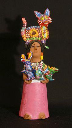 Pottery Figure made by the Aguilar family, Ocotlan, Oaxacas