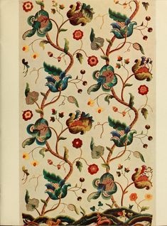 Jacobean crewel work and traditional designs. 1900г.