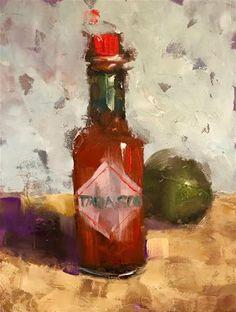 "Daily Paintworks - ""Tabasco Time, 6x8"" - Original Fine Art for Sale - © Ann Feldman"