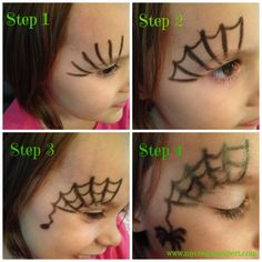 Halloween Makeup for Kids - 20 Inspirational Ideas :) - ne .- Halloween Make-up für Kinder- 20 inspirierende Ideen 🙂 – nettetipps.de Halloween Makeup for Kids – 20 Inspirational Ideas :] – nettetipps. Halloween Makeup For Kids, Kids Makeup, Face Painting Halloween Kids, Diy Halloween Games, Halloween Face Mask, Halloween Decorations, Outdoor Halloween, Halloween Projects, Halloween Halloween