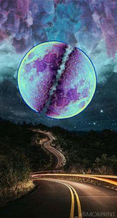 #fondodepantalla #abstracto #moon #nigth #luna #morado Moon, Celestial, Outdoor, Abstract Backgrounds, The Moon, Outdoors, Outdoor Games, The Great Outdoors