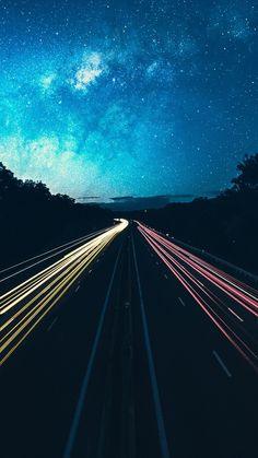 Highway-Lights-Long-Exposure-iPhone-Wallpaper