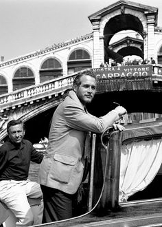 Paul Newman, Venice, 1963; flapped patch pockets