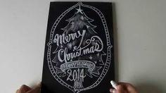 黒板とチョークだけでクリスマスのインテリアを作ってみました!チョークアート 大人黒板③(Chalk Art drawing christmas ...
