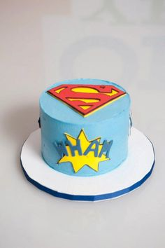 Superman Smash Cake