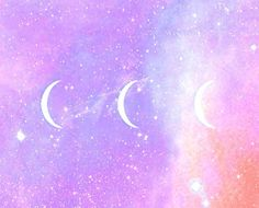 Pastel goth moons
